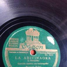 Discos de pizarra: LA ADIVINAORA PASTORA SOLER. Lote 162948906