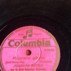 Discos de pizarra: PICONERO GITANO JUANITA REINA. Lote 162949620