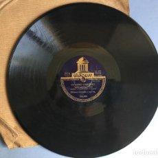 Discos de pizarra: DISCO DE PIZARRA ODEON, CUATRO PAREDES Y SINCERIDAD, LORENZO GONZÁLEZ Y SU ORQUESTA, 2 CARAS. Lote 163074242