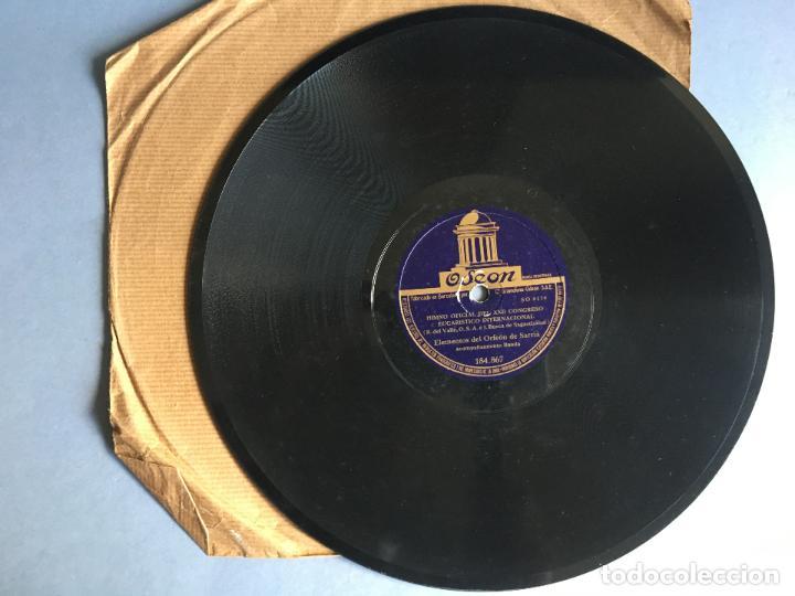 DISCO DE PIZARRA ODEON, HIMNO OFICIAL DEL XXII CONGRESO EUCARISTICO INTERNACIONAL, 2 CARAS (Música - Discos - Pizarra - Otros estilos)