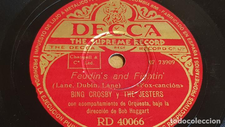Discos de pizarra: PIZARRA !! BING CROSBY Y THE ANDREW SISTERS / RUMBA-BA / DECCA - 25 CM - Foto 2 - 163340802