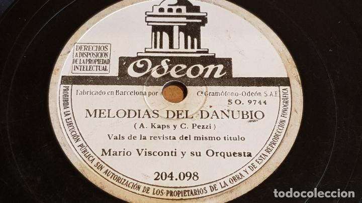 Discos de pizarra: PIZARRA !! MARIO VISCONTI Y SU ORQUESTA / ADIOS AMOR / ODEON - 25 CM. - Foto 2 - 163352190