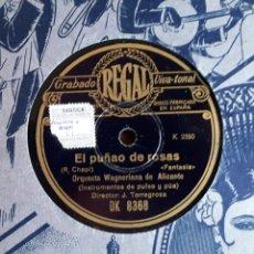 Discos de pizarra: EL PUÑAO DE ROSAS - CAMINO DE ROSAS ORQUESTA WAGNERIANA DE ALICANTE . Lote 163627418