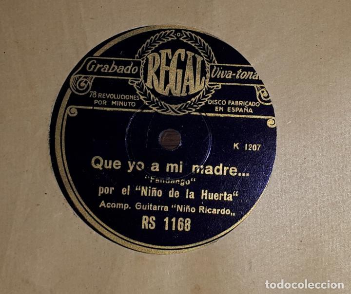 FANDANGOS MEDIA GRANADINA NIÑO DE LA HUERTA Y NIÑO RICARDO (Música - Discos - Pizarra - Flamenco, Canción española y Cuplé)