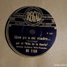 Discos de pizarra: FANDANGOS MEDIA GRANADINA NIÑO DE LA HUERTA Y NIÑO RICARDO . Lote 163627954