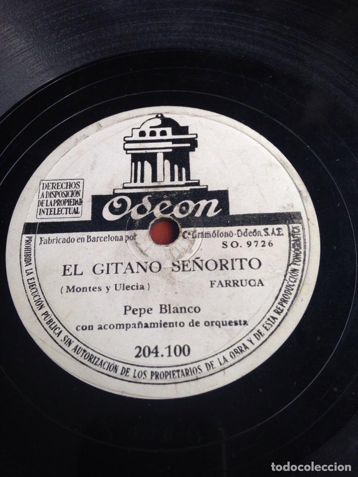 EL GITANO SEÑORITO PEPE BLANCO (Música - Discos - Pizarra - Flamenco, Canción española y Cuplé)