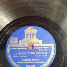 Discos de pizarra: LA ROSA Y EL VIENTO CONCHITA PIQUER. Lote 164200236