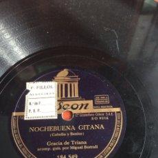 Discos de pizarra: NOCHEBUENA GITANA GRACIA DE TRIANA. Lote 164201712