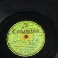 Discos de pizarra: HECHIZÓ ANDALUZ LOLA FLORES. Lote 164740313