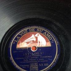 Discos de pizarra: AY LOLA LOLA FLORES. Lote 164740654