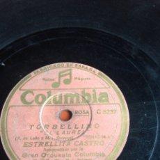 Discos de pizarra: TORBELLINO ESTRELLITA CASTRO. Lote 164743301