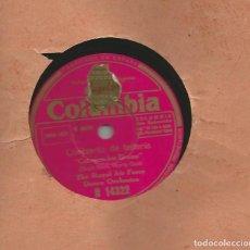 Discos de pizarra: THE ROYAL AIR FORCE DANCE ORCHESTRA: CONCIERTO DE BATERÍA + RAPSODIA DE LA ESCOBILLA. Lote 165185746