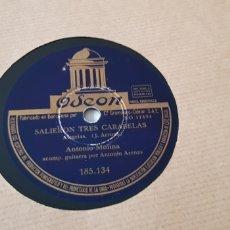 Discos de pizarra: DISCO DE PIZARRA ANTONIO MOLINA. Lote 165877866