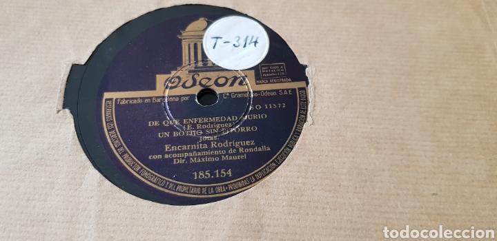 DISCO DE PIZARRA JOTAS ENCARNITA RODRIGUEZ. (Música - Discos - Pizarra - Flamenco, Canción española y Cuplé)