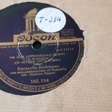 Discos de pizarra: DISCO DE PIZARRA JOTAS ENCARNITA RODRIGUEZ.. Lote 165878870