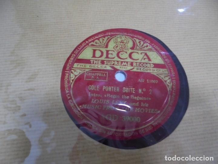 DISCO DE PIZARRA. DECCA. THE SUPREME RECORD. COLE PORTER SUITE Nº 1 / Nº 2 (Música - Discos - Pizarra - Otros estilos)