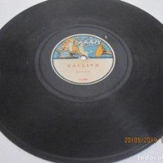 Discos de pizarra: DISCO DE PIZARRA GALLITO BANDA 15.365 Y JOSELITO MARAVILLA BANDA 15.366. Lote 166133510