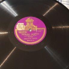 Discos de pizarra: DISCO 78 RPM TANGO CARLOS GARDEL. Lote 166238348