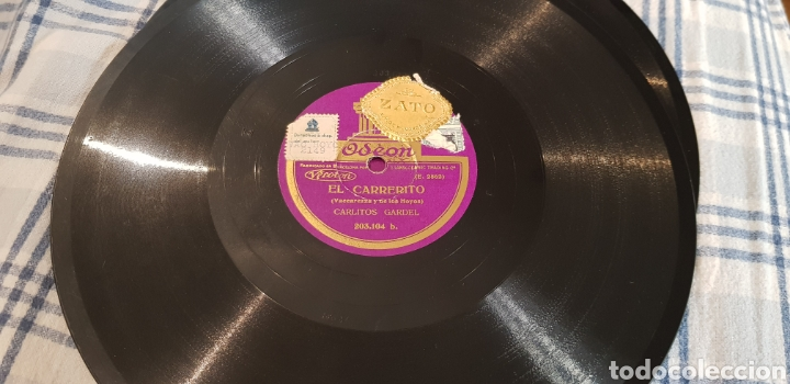 DISCO 78 RPM TANGO CARLOS GARDEL (Música - Discos - Pizarra - Flamenco, Canción española y Cuplé)