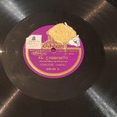 Discos de pizarra: DISCO 78 RPM TANGO CARLOS GARDEL. Lote 166238557