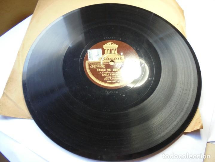 MAGNIFICO ANTIGUO DISCO DE PIZARRA,CORPUS CANÇO CATALANA YCANÇO TRAGINES,EMILI VENDRELL (Música - Discos - Pizarra - Otros estilos)