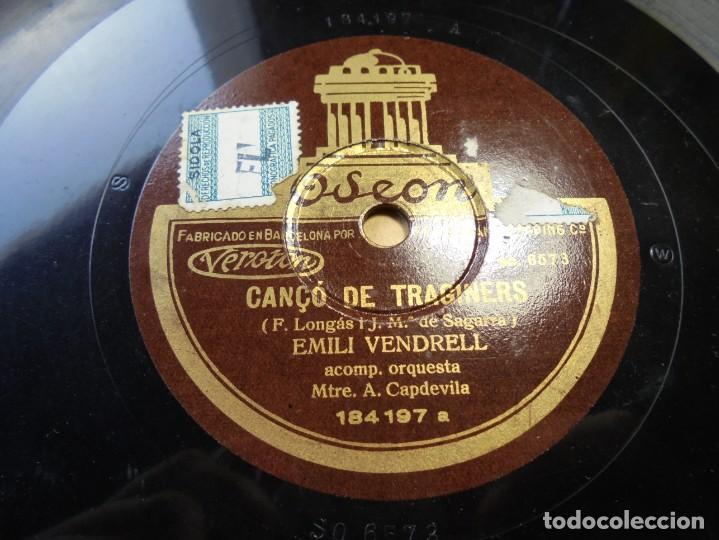 Discos de pizarra: magnifico antiguo disco de pizarra,corpus canço catalana ycanço tragines,emili vendrell - Foto 2 - 166301026