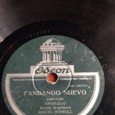 Discos de pizarra: FANDANGO NUEVO ANGELILLO. Lote 166310738