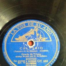 Discos de pizarra: CALVARIO GRACIA DE TRIANA. Lote 166311065