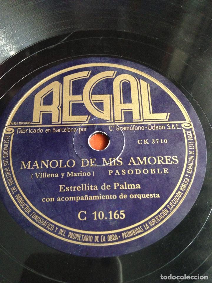 MANOLO DE MIS AMORES ESTRELLITA DE PALMA (Música - Discos - Pizarra - Flamenco, Canción española y Cuplé)