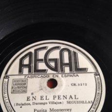 Discos de pizarra: EN EL PENAL PURITA MONTERREY. Lote 166312389