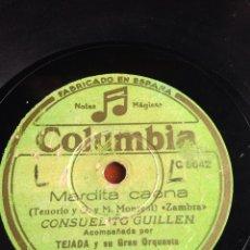 Discos de pizarra: MARDITA CAENA CONSUELITO GUILLÉN. Lote 166426113