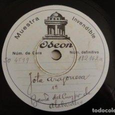 Discos de pizarra: REAL CUERPO DE ALABARDEROS - JOTA ARAGONESA - DISCO MUESTRA ODEON. Lote 166522718