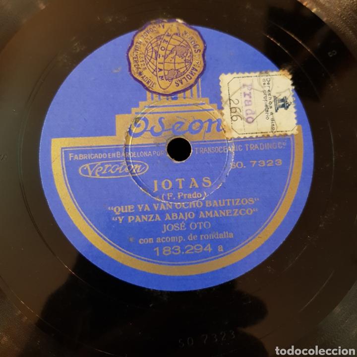 Discos de pizarra: JOTAS - JOSE OTO - DISCO PIZARRA 78 RPM VER FOTOS - Foto 3 - 166543692