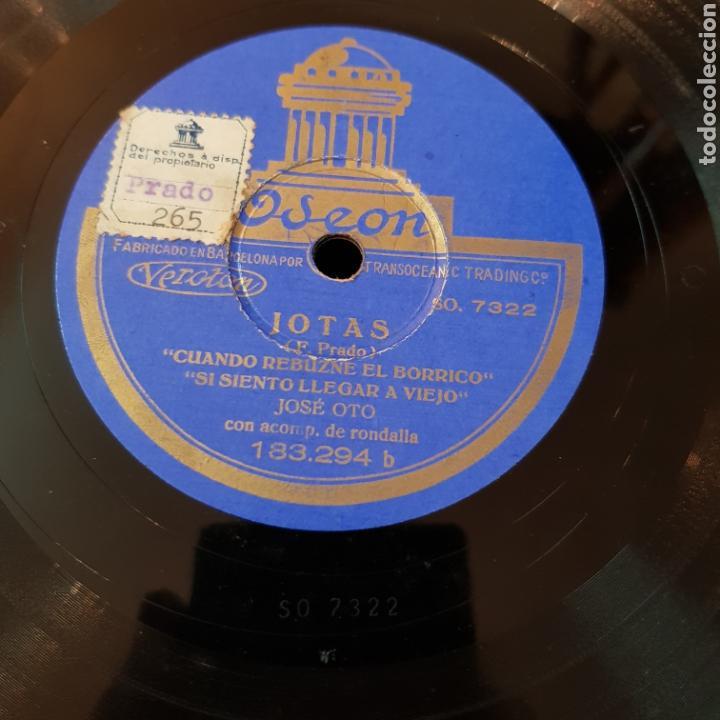 JOTAS - JOSE OTO - DISCO PIZARRA 78 RPM VER FOTOS (Música - Discos - Pizarra - Flamenco, Canción española y Cuplé)