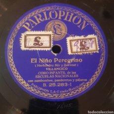 Discos de pizarra: VILLANCICO -CARRASELAS - EL NIÑO PEREGRINO DISCO DE PIZARRA 78 RPM. Lote 166564290