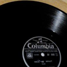 Discos de pizarra: AT.__DISCO DE PIZARRA, PARA GRAMOFONO,COLUMBIA,VALSE DE MINUIT, ORCHESTRE NULLO ROMANI,DF660. Lote 166850106