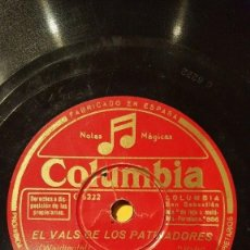 Discos de pizarra: DISCO 78 RPM - COLUMBIA - PRIMO SCALA´S ACCORDION BAND - ESTUDIANTINA - WALDTEUFEL - PIZARRA. Lote 166986924