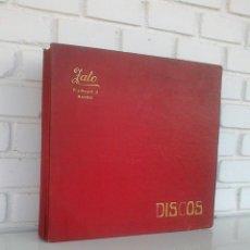 Discos de pizarra: ALBUM CON 10 DISCOS DE PIZARRA. BANDA MUNICIPAL DE MADRID. ODEON, GRAMOFONO. VER FOTOS ADJUNTAS.. Lote 167084664