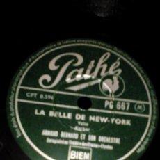 Discos de pizarra: DISCO PIZARRA PARA GRAMÓFONO,REFLETS DE VALSE LA BELLE DE NEW YORK. Lote 167185692