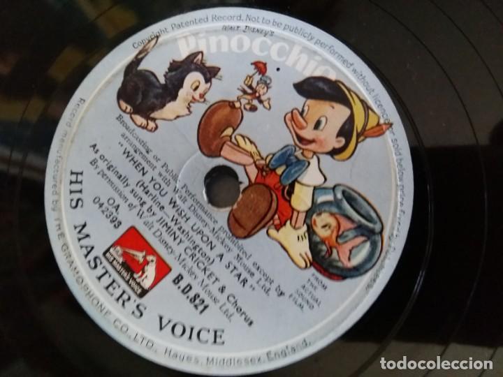 DISCO PIZARRA PINOCHO WALT DISNEY HIS MASTER'S VOICE LA VOZ DE SU AMO BSO DE LA PELICULA (Música - Discos - Pizarra - Bandas Sonoras y Actores )