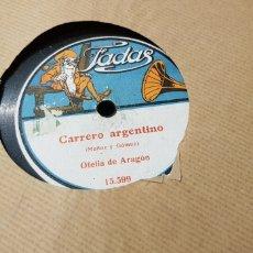 Discos de pizarra: 78 RPM OFELIA DE ARAGON. Lote 167574417