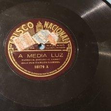 Discos de pizarra: 78 RPM CARLOS GARDEL. Lote 167574780