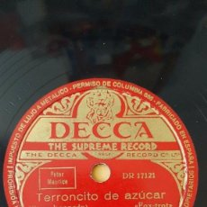 Discos de pizarra: DISCO 78 RPM - DECCA - CYRIL STAPLETON - ORQUESTA - TERRONCITO DE AZUCAR - FOXTROT - PIZARRA. Lote 167664756