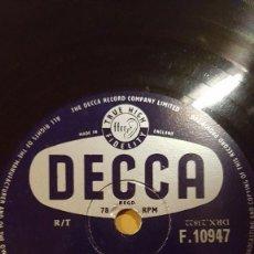 Discos de pizarra: DISCO 78 RPM - DECCA - DAVE KING - THE ROLAND SHAW ORCHESTRA - CHANCES ARE - JAZZ - PIZARRA. Lote 167666672