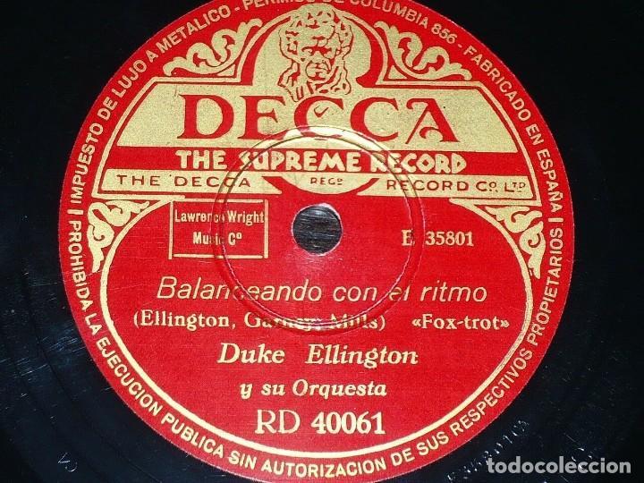 DISCO 78 RPM - DECCA - DUKE ELLINGTON - ORQUESTA - CONVULSIONES DE JAZZ - FOXTROT - PIZARRA (Música - Discos - Pizarra - Jazz, Blues, R&B, Soul y Gospel)