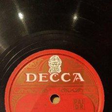 Discos de pizarra: DISCO 78 RPM - DECCA - FRANK CHACKSFIELD - ORQUESTA - FILM - LIMELIGHT - CHAPLIN - PIZARRA. Lote 167911940