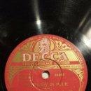 Discos de pizarra: DISCO 78 RPM - DECCA - PAUL WHITEMAN - ORQUESTA - RHAPSODY IN BLUE - GERSHWIN - JAZZ - PIZARRA. Lote 167922668