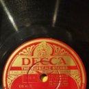 Discos de pizarra: DISCO 78 RPM - DECCA - ROLAND PEACHY - ORQUESTA HAWAIANA - YEARNING - TENGO RITMO - JAZZ - PIZARRA. Lote 167932260