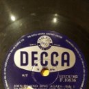 Discos de pizarra: DISCO 78 RPM - DECCA - THE JOHNSTON BROTHERS - THE GEORGE CHILSHOLM - JOIN IN & SING AGAIN - PIZARRA. Lote 167933852