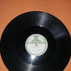 Discos de pizarra: DEMONIOS DA GAROA. SAMBA. DOS DISCOS PIZARRA. URUGUAY. ODEON 1957. RAROS. . Lote 168091088